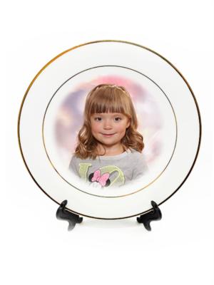 Šķīvis ar foto